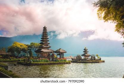 Pura Ulun Danu Bratan Temple in Bali, Indonesia 2017