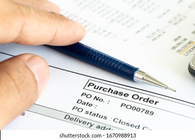 Purchase business financial order document contract sign