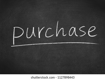 purchase concept word on a blackboard background