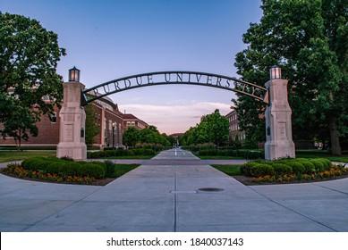 Purdue University archway entrance, IN