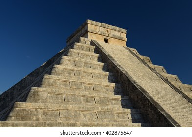 The pure architecture of Chichen Itza, Mexico.