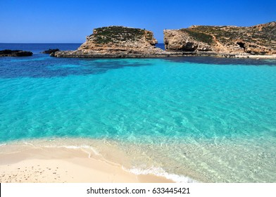 Pure crystal water of Blue Lagoon on Malta