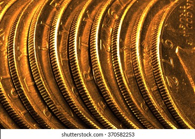 Pure gold coins and bars bullion