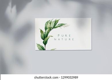 Pure nature business card mockup