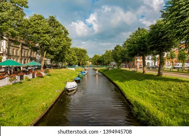 Pure nature in the canals of Friedrichstadt in northern Germany