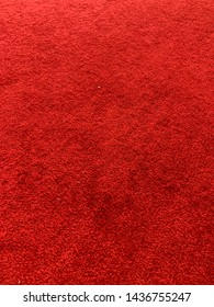 Pure red color of carpet for the floor