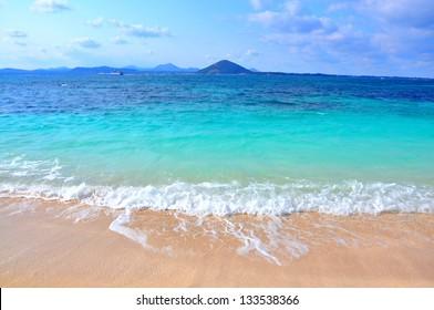 Pure sea in Udo island. Udo is a small island closes to Jeju Island, South Korea