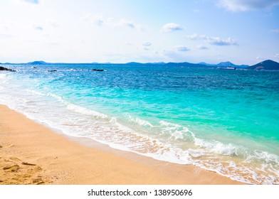 Pure sea in Udo island, South Korea. Udo is a small island closes to Jeju Island, South Korea