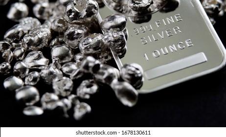 Pure silver precious metals investment