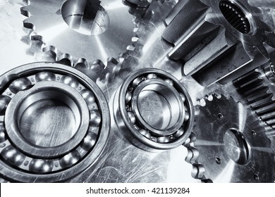 pure titanium ball-bearings and gears, aerospace rocket engineering parts