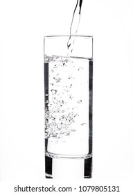 Pure water filling a glass.