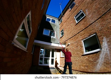 pure water high reach window cleaning on residential flats