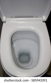pure white toilet in a modern toilet