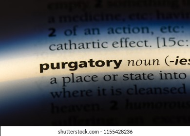 purgatory word in a dictionary. purgatory concept.
