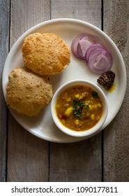 puri and aloo sabzi - an indian tasty food