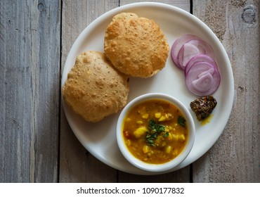 puri and aloo sabzi - an indian tasty food
