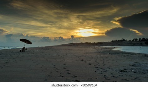 Puri beach at the time of Sunset. Selective focus is used.