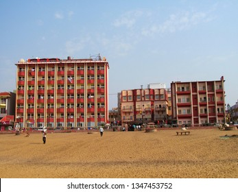 Puri, Odisha, India-March24,2019: Puri hotel, the highest hotel in Puri. It's a bengali hotel.Puri Hotel was started with 3 small rooms with much enthusiasm in a single storied house on lease.