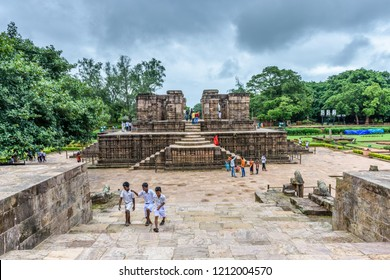 Puri, Orissa,India -AUGUST 15, 2018: The ancient Sun temple at Konark built in 13th century is a world heritage conservation site today in Puri, India