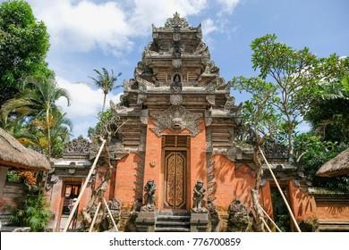 Puri Saren Agung, The Rotal Palace in Ubud, Bali, Indonesia.