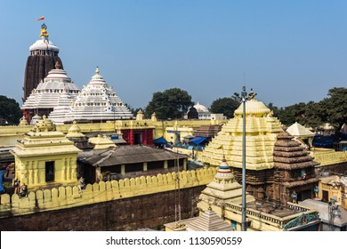 Puri/Odisha/India - 01-14-2017: Top of the Jagannath temple, Puri, India