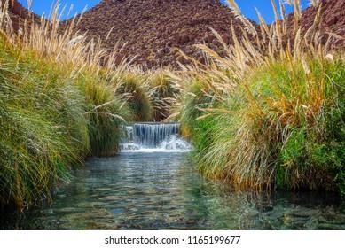 Puritama hot springs near San Pedro d' Atacama, Chile