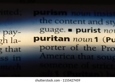 puritan word in a dictionary. puritan concept.