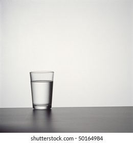 "purity concept ""glass of clean fresh water"". Space for copy"