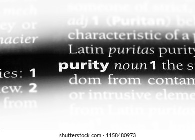 purity word in a dictionary. purity concept.
