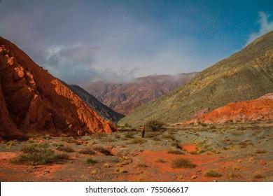 Purmamarca, Province of Jujuy, North of Argentina. Town Quebrada de Humahuaca, Argentina