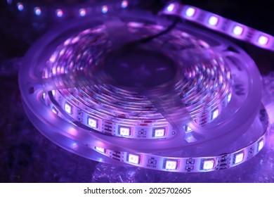 Purple 5050 RGB LED Strip Light