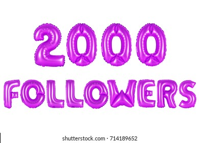 purple alphabet balloons, 2000 (two thousand) followers, purple number and letter balloon