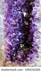 Purple amethyst cave points crystal