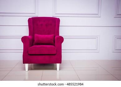Purple Armchair In A Modern Interior