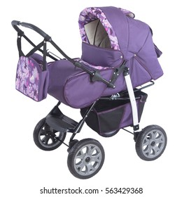 purple baby carriage