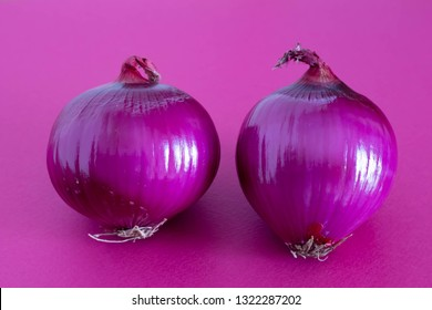 Purple background and purple onion