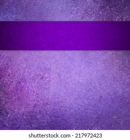 purple background with ribbon stripe, vintage grunge background textured purple painted wall