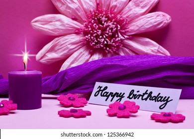 purple background with text happy birthday
