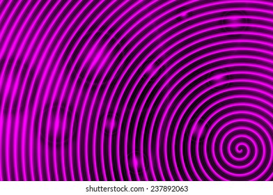 Purple and black spiral with red circles