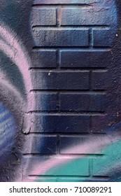 Purple, Blue, and Black Street Art Background