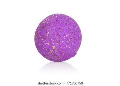 purple bomb for a bath, isolated on white background