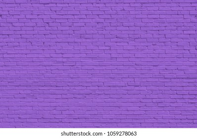 Purple brick wall for background