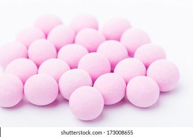 Purple bubblegum isolated on white