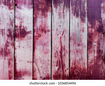 Purple Or Burgundy Wooden Painted Old Background Close Up Wall Plank Panel Board
