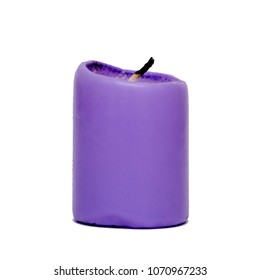 Purple Candle isolated on white background