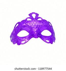 Purple carnival mask. Isolated on white background