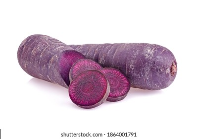 purple carrot isolated on white background