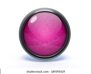 Purple Circular button on white background