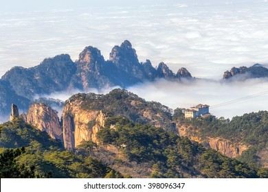 Purple cloud peak, Mt. Huangshan in Anhui, China day time