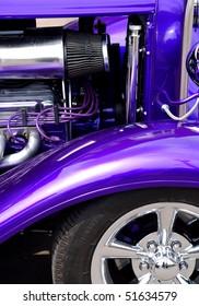 Purple custom car